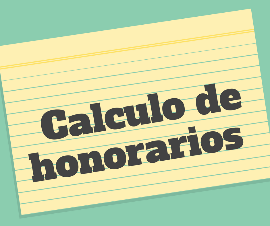 Calculo de honorarios