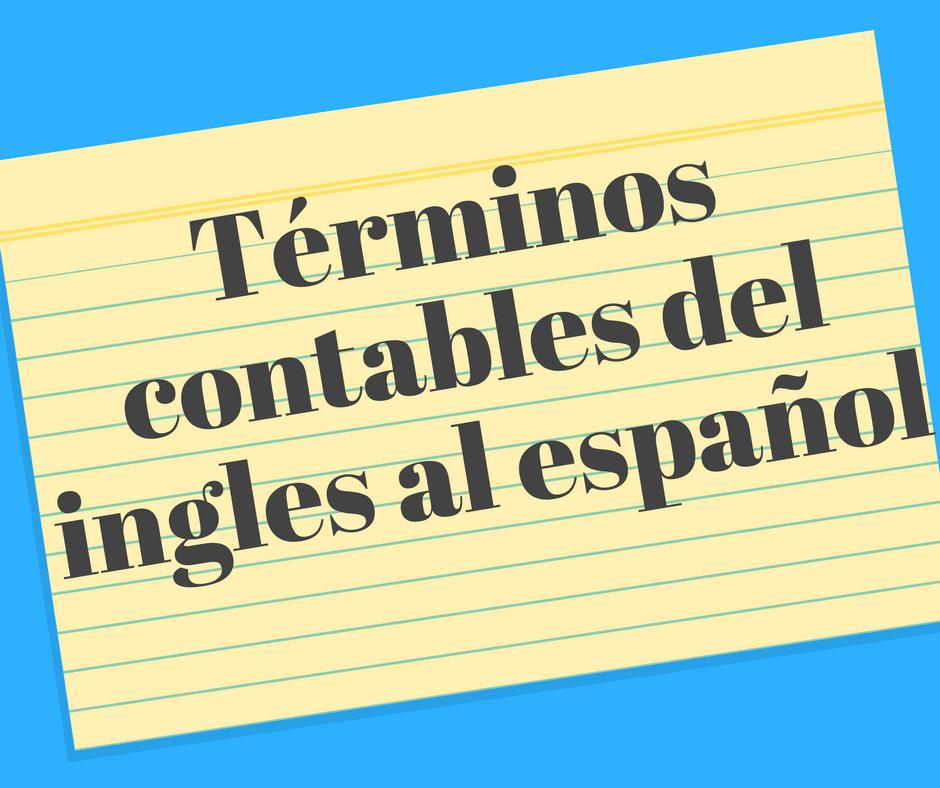 Términos contables del ingles al español