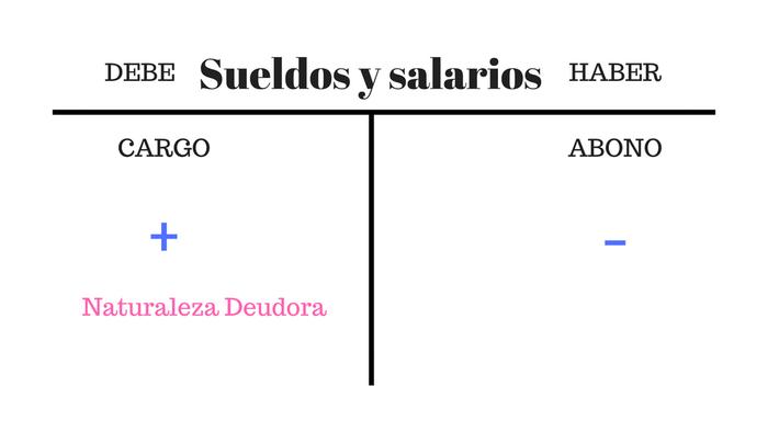 naturaleza contable de sueldos y salarios