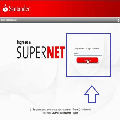 Imprimir el Estado de Cuenta de Santander